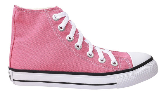 Tênis Converse All Star Cano Alto Rosa Claro