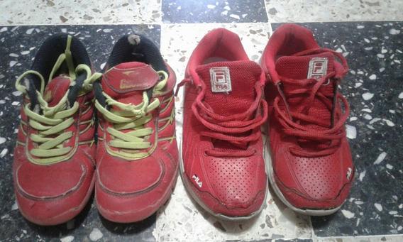 Zapatillas Deportivas Gaelle Y Fila Niño/a. Usadas
