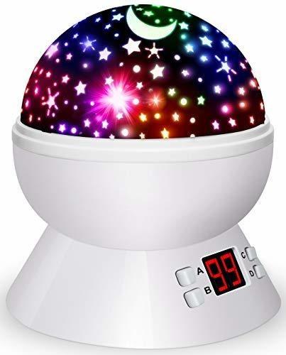 Luces Nocturnas Para Niños, Proyector De Estrellas Giratorio