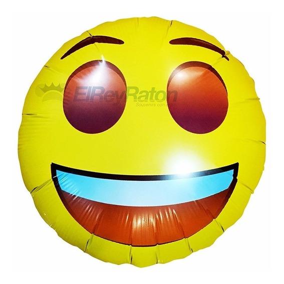 10 Globos Metalicos Emojis Emoticones Caritas Whats App 18