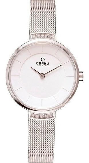 Reloj Obaku V177lecimc Acero Plateado-blanco Original Dama