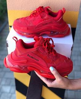 Tenis Balenciaga Triple S Red Mujer