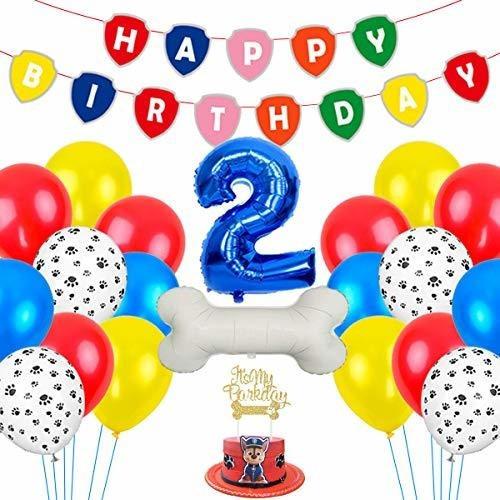 Paw 2nd Birthday Decoraciones Para Niños Let's Pawty Puppy T
