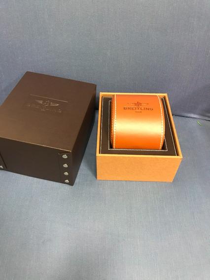Breitling Caixa Completa Original Marrom Luxo Para Relogio
