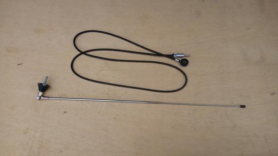 Antena Am/fm 2 Estágios Universal Cromada Som Nova