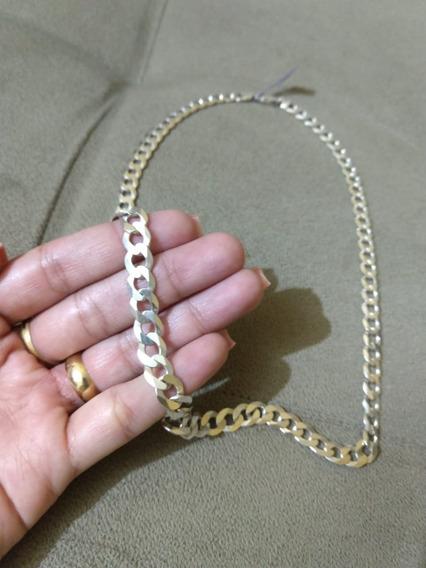 Cordão Corrente Masculina Prata 925 Pura Grumet 44 Gramas