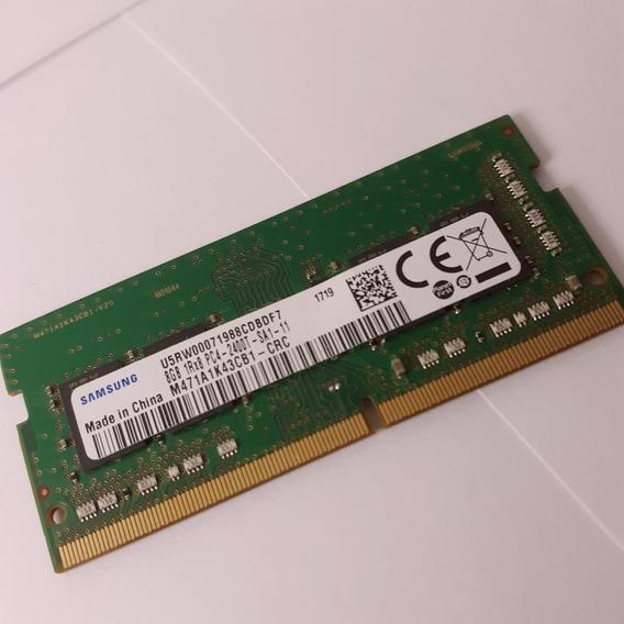 Memória Ram Samsung Ddr4 8gb De Notebook Usada Pc4-2400t