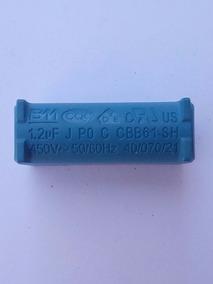 Capacitor Cbb61 1,2uf X 450v Placa Ar Split 2 Pçs