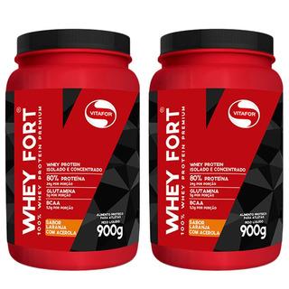 Whey Fort - 2x 900 Gramas - Vitafor Chocolate