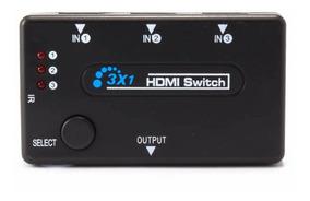 Switch Hdmi 3 Portas 3x1 Com Controle