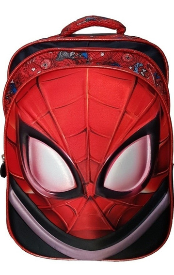 Mochila De Costa Infantil Média Homem Aranha 3d Novo Red
