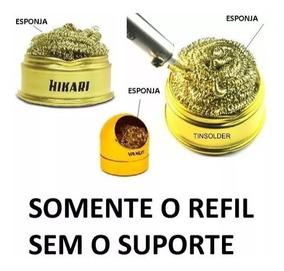 Refil Metálico Esponja Limpeza De Ponteira Ponta Ferro Solda
