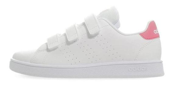 Tenis adidas Advantage C - Ef0221 - Blanco - Niñas