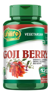 Goji Berry Unilife 120 Cápsulas Vitamina C E Cromo Selenio
