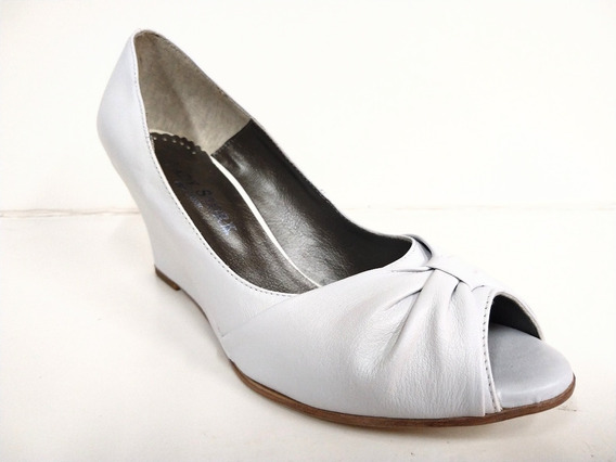 Zapatos Lady Stork Bernardita Dama Taco Chino Cuero Vacuno