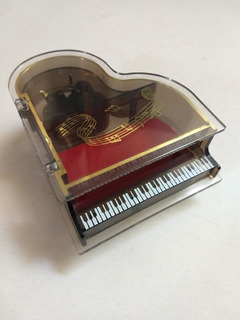 Antigua Caja De Musica Forma De Piano