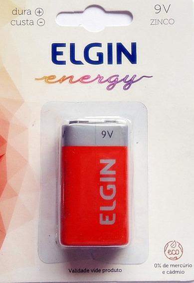 Bateria Elgin 9v Zinco/carvão Blister Cartela 1un# Em Até 3x