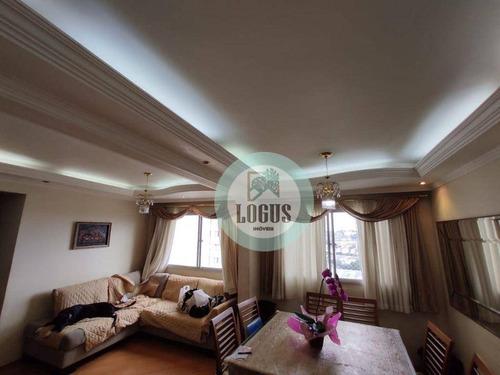 Imagem 1 de 30 de Apartamento Duplex No Residencial San Marco Com 120m² Composto 3 Dormitórios, À Venda Por R$ 600.000,00 - Independência, Sbc/sp - Ad0008