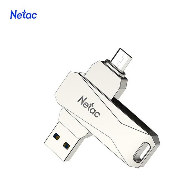 Netac U381 128gb Micro Usb + Usb Dupla Interface Flash