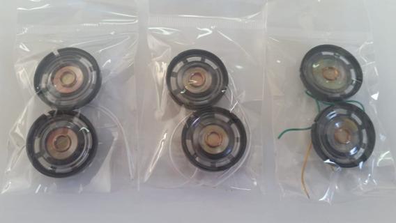 Mini Auto Falante 8 Ohms 0,25 Watt 27mm Kit 6 Unid (cod 07)
