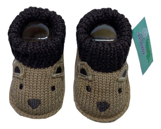 Zapato Tejido Bebe Crochet Tenis Animal Tejido Croche Unisex