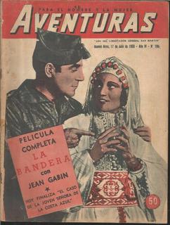 Aventuras / Nº 196 / 1950 / La Bandera Con Jean Gabin