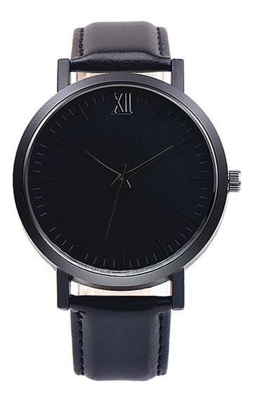 Elegante Reloj Analogico Para Hombre Metal Negro