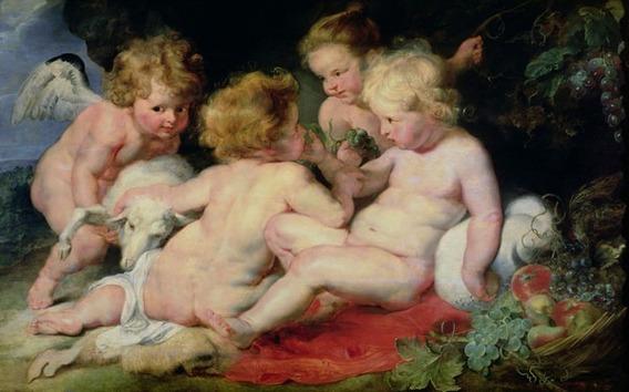 Lienzo Tela, Pedro Paul Rubens, Cristo Niño 70x112cm