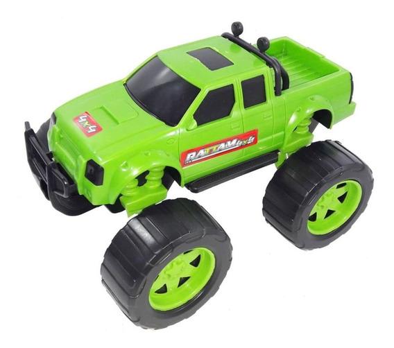 Carrinho Infantil 4x4 Rattam 30cm Verde Usual Plastic
