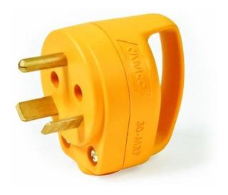 Camco Heavy Duty 30 Amp Mini Powergrip Handle Male Plug Repl