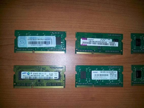 Memoria Ram Sodimm De 1gb 1066 Y 1333mhz Notebook Y Netbook