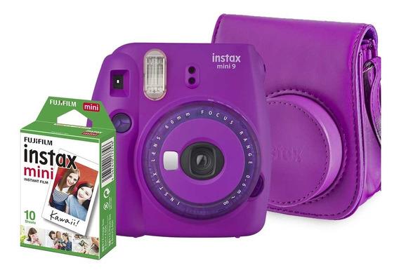 Kit Instax Mini 9 Bolsa E 10 Poses Roxo Açaí - Fujifilm