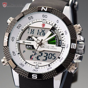 Relogio Shark Esportivo Porbeagle Sh041 Pronta Entrega Inox