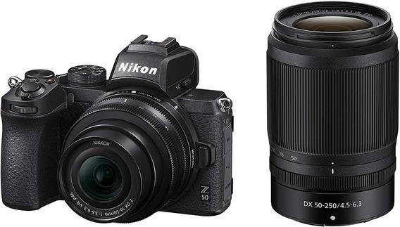 Câmera Nikon Z50 Kit 16-50mm F3.5-6.3 Vr + 50-250mm F4.5-6.3