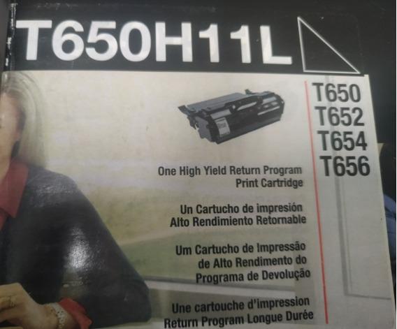 Toner 2 T650h11l + 2 T650h11b Orig. - Cx. Aberta Sem Uso