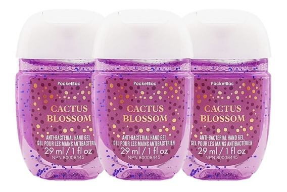 Gel Antibacterial Bath & Body Works Cactus Blossom Kit 3pz