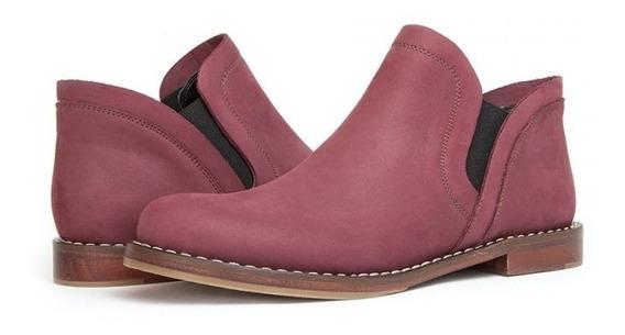 Zapato Casual De Gamuza Rojo 2272
