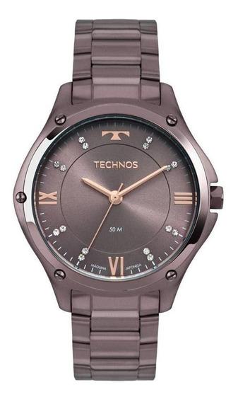 Relógio De Pulso Technos Aço Roxo 2036mld/4g