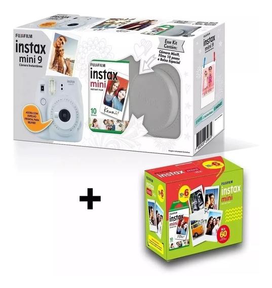 Kit Câmera Instax Mini 9 Branco.. Câmera, Bolsa+ 70 Filmes