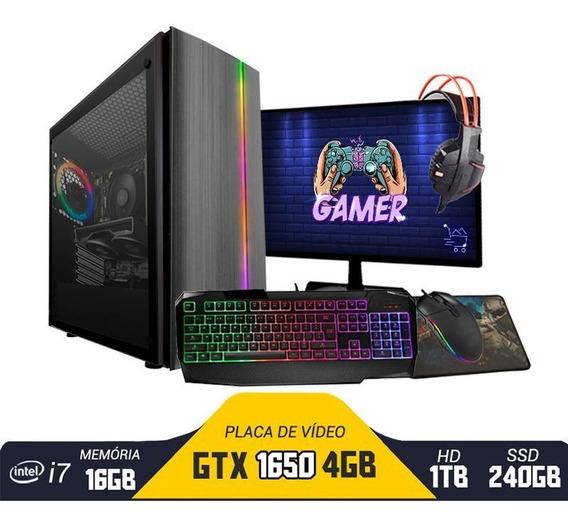 Pc Gamer Bravus Core I7 Gtx 1650 16gb Hd 1tb Ssd 240gb