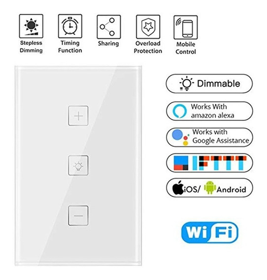 Controlador De Luz Wifi Touch Smart Alexa/google Home