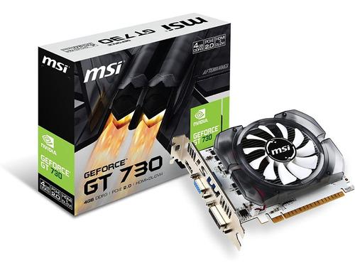 Tarjeta De Video Nvidia Geforce Gt 730 4gb Ddr3 Pci-e Hdmi