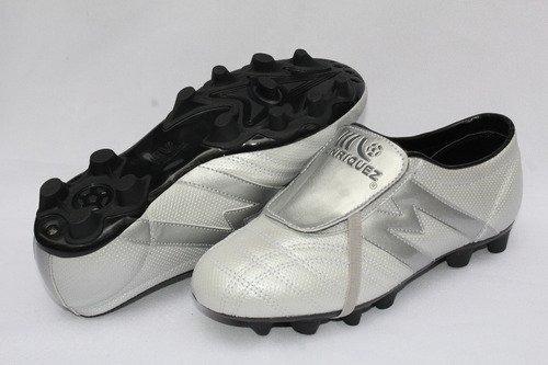 2257-zapato Fútbol Manriquez Profesional Mid Sx Plata/ngo