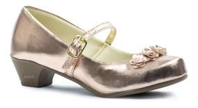 Sapatilha Com Salto Infantil Sapatos Femininos Scarpin 38