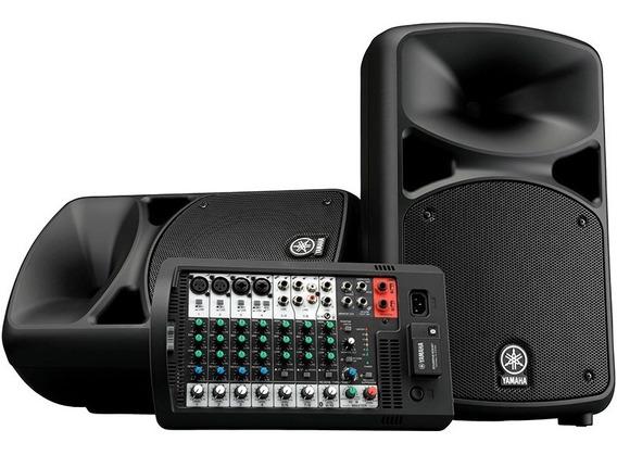 Caixa Ativa C/ Bluetooth Yamaha Pa Portatil Stagepas 600bt