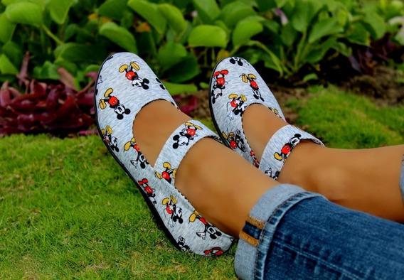 Flats Mickey Mouse Valerinas Látigo