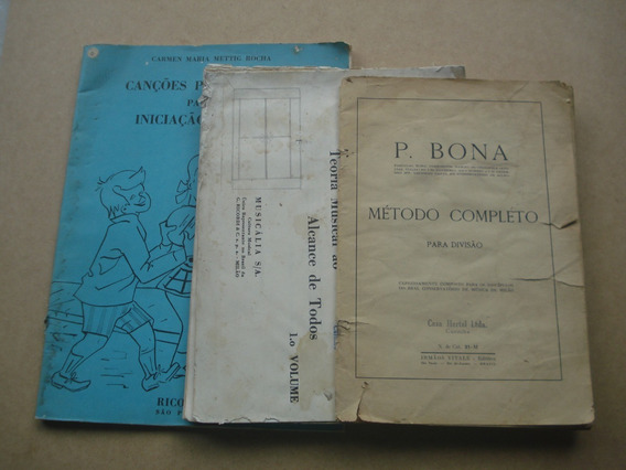 3 Livros De Educacao Musical - Leia O Anuncio