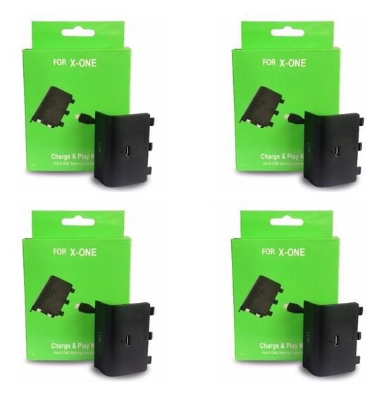 Kit 4 Bateria E Carregador Xbox One Charge Play 7&7