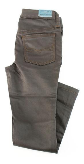 Jeans Entallados Ralph Lauren Para Chicas De Algodón Marrón