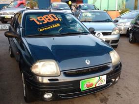 Renault Clio Sedan Rt 1.0 Completo 2001 Cinza Gasolina